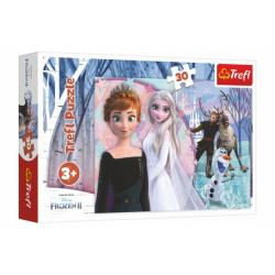 Obrázek Puzzle Ledové království II/Frozen II 30 dílků 27x20cm v krabičce 21x14x4cm