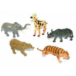 Obrázek zvířata divoká větší, 5 ks v sáčku