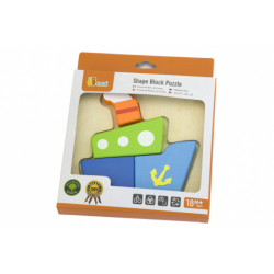 Obrázek Dřevěné puzzle pro nejmenší - loď