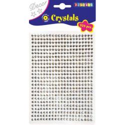 Obrázek Lepící kamínky 525ks, průměr 5mm stříbrné
