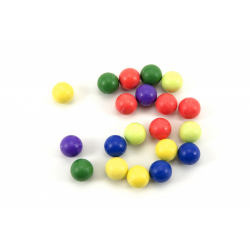 Obrázek Kuličky cvrnkací nerozbitné 20ks - 3 barvy v látkovém pytlíčku