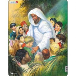 Obrázek Puzzle Bible - Ježíš s dětmi 32 dílků