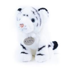 Obrázek plyšový tygr bílý sedící, 18 cm