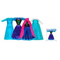 Obrázek oblečení pro panenku zimní království, 4 druhy
