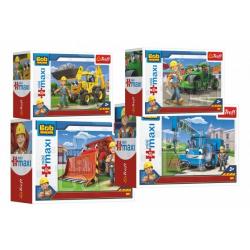 Obrázek Puzzle miniMaxi Bořek stavitel a stroje 22x16cm 20 dílků v krabičce 11 x 8cm