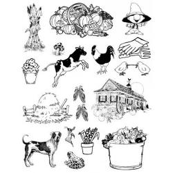 Obrázek Gelová razítka- Farma- kukuřice