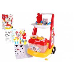 Obrázek Sada doktor/lékař plast s vozíkem s doplňky v krabici 38x62x20 cm