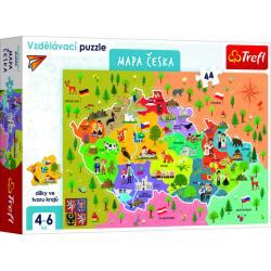 Obrázek Puzzle vzdělávací - Mapa České republiky