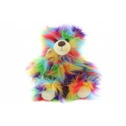 Obrázek Plyš Medvěd barevný 33 cm - ECO-FRIENDLY