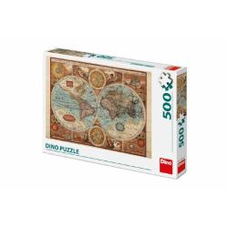 Obrázek Puzzle Mapa Světa 47x33cm 500 dílků