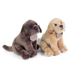 Obrázek plyšový pes labrador sedící 2 dr., 20 cm