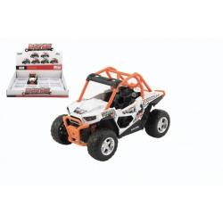 Obrázek Auto buggy kov/plast 14cm na baterie se světlem se zvukem 2 barvy na zpětné natažení 8ks v boxu