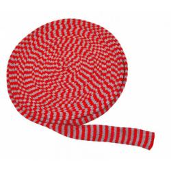 Obrázek Pletený tubus 10m x 4cm červeno-šedý
