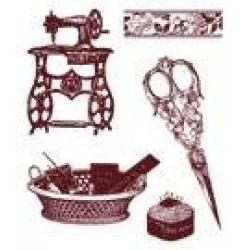 Obrázek Gelová razítka - šicí stroj, nůžky
