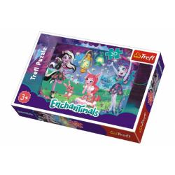 Obrázek Puzzle Enchantimals 30 dílků  21x14x4cm