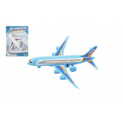 Obrázek Letadlo plast 14cm volný chod 2 barvy na kartě