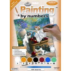Obrázek Maľovanie podľa číselného Mačičky u košíka