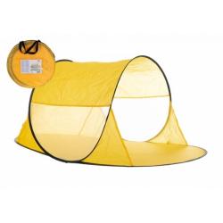 Obrázek Stan plážový žlutý 140x70x62cm samorozkládací polyester/kov v látkové tašce