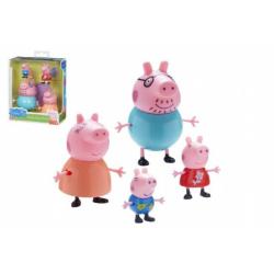 Obrázek Sada figurek Prasátko Peppa 4ks plast v krabici 14x17x6cm
