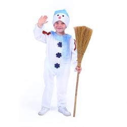 Obrázek Dětský kostým sněhulák s čepicí a modrou šálou (M)