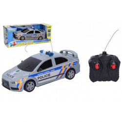 Obrázek Auto RC Policie ČR plast 23cm 27 MHz na baterie v krabici 32x12,5x13cm