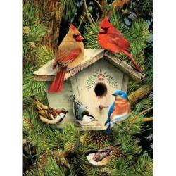 Obrázek Malování podle čísel - Ptáčci u budky