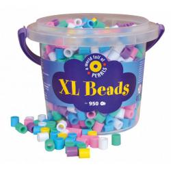 Obrázek Korálky zažehlovací velké- maxi XL v kbelíčku- 950ks pastel barvy
