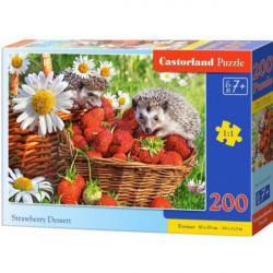 Obrázek Puzzle Castorland 200 dílků premium - Ježci v jahodách