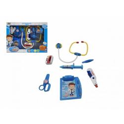 Obrázek Sada doktor/ lékař stetoskop na baterie plast v krabici 37x28x6cm
