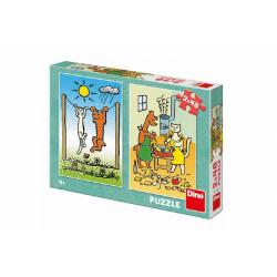 Obrázek Puzzle Pejsek a Kočička 2x48 dílků 18x26cm