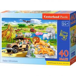 Obrázek Puzzle Castorland MAXI 40 dílků - Dobrodružství na Safari