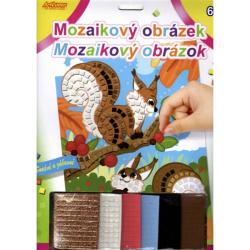 Obrázek Mozaikový obrázek - Veverky