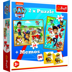 Obrázek Puzzle 2v1 + pexeso Tlapková patrola zachraňuje