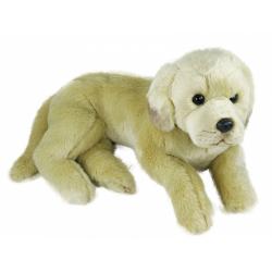 Obrázek plyšový pes labrador ležící, 38 cm