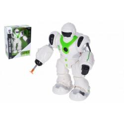 Obrázek Robot chodící plast 21cm na baterie se zvukem se světlem v krabici 20x25x11cm