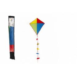 Obrázek Drak létající nylon 70x60cm barevný v sáčku 10x70cm