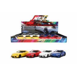 Obrázek Auto Welly Toyota Supra kov/plast 12cm 4 barvy na zpětné natažení 12ks v boxu