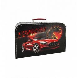 Obrázek Kufřík závodní auto černo/červený 35 cm