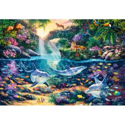 Obrázek Puzzle Castorland 1500 dílků - Ráj uprostřed džungle