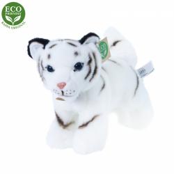 Obrázek Plyšový tygr bílý mládě stojící s tvarovatelnými končetinami 22 cm ECO-FRIENDLY