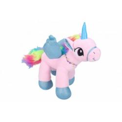 Obrázek Jednorožec/kůň s křídly plyš 21cm 2 barvy