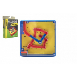 Obrázek Bludiště/hlavolam Přes most plast 12x12cm balanční hra v krabičce 13x18x4cm