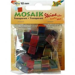 Obrázek Mozaika průhledná mix barev 10x10mm