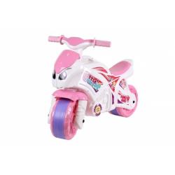 Obrázek Odrážedlo motorka růžovo-bílá plast v sáčku 35x53x74cm 24m+