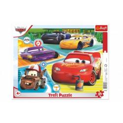 Obrázek Puzzle deskové Auta 3/Cars 3/Dobrý tým 37x29cm 25 dílků ve fólii 16ks v boxu