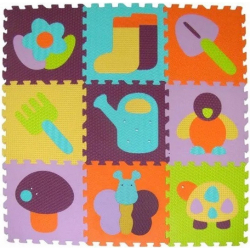 Obrázek Pěnové puzzle 9 ks 30x30x1cm, zahrada