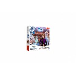 Obrázek Soubor her 2v1 Člověče, nezlob se, Hadi a žebříky Frozen II/Ledové království II v krabici 24x24x5,5