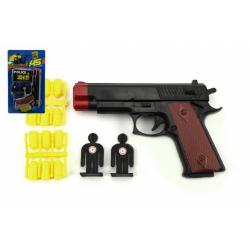 Obrázek Pistole s náboji + terče plast 15cm