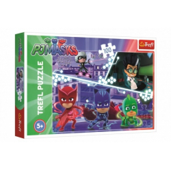 Obrázek Puzzle Maska v akci/PJ Masks 100 dílků 41x27,5cm v krabici 29x20x4cm