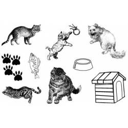 Obrázek Gelová razítka- Kočky